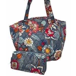 VERA BRADLEY Tropical Evening Tote Bag & Wallet